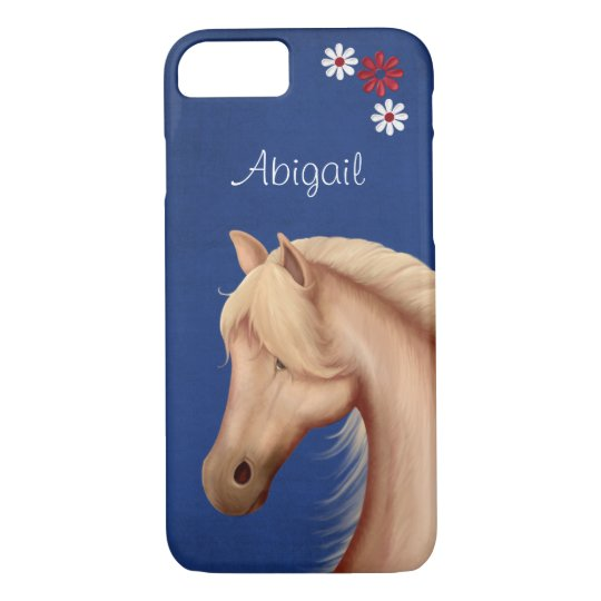 Personalised Pretty Palomino Horse iPhone 7 Case