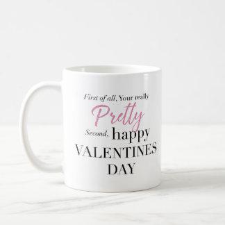 Personalised Pretty Valentines Day Mug