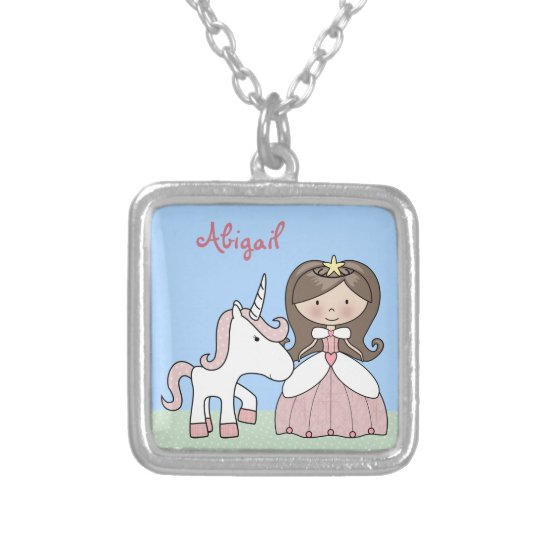 Personalised Princess and Unicorn Necklace