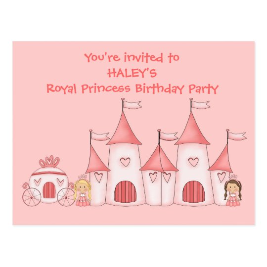 Personalised Princess birthday party invitations