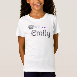 Personalised `Princess Emily' design T-Shirt