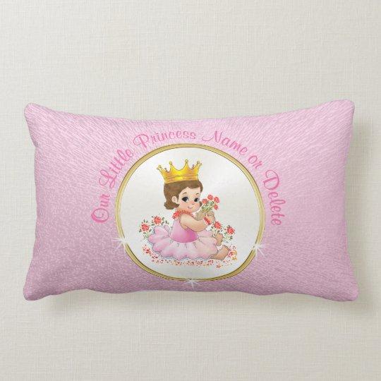 Personalised Princess Pillow, Your Text or Photo Lumbar