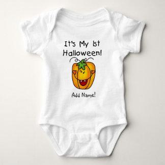 Personalised Pumpkin 1st Halloween Creeper