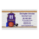 Personalised Purple and Gold Basketball Jersey Pack Of Standard Business Cards