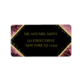 Personalised Purple and Gold Mailing Labels