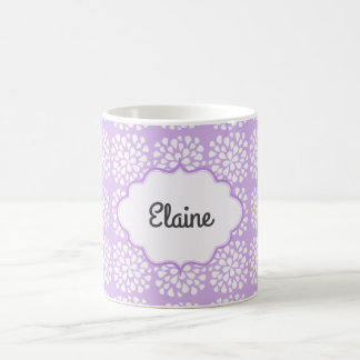 Personalised Purple Floral Coffee Mug