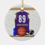 Personalised Purple Gold Basketball Jersey