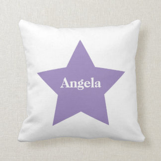Personalised Purple Star. Purple Star Collection Throw Pillow
