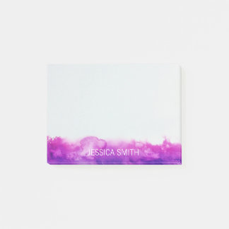 Personalised Purple Violet Lavender Watercolor Post-it Notes