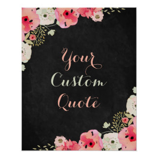 Personalised quote Custom quote print Chalkboard