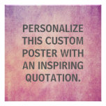 Personalised Quote, Custom Radiant Orchid Texture
