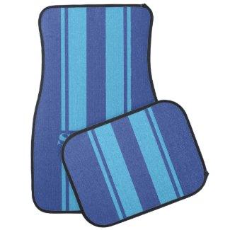 personalised race stripe car mat