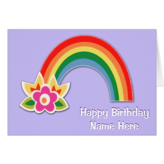 Personalised Rainbow Birthday Cards for Girls