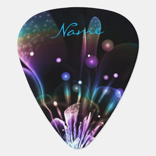 Personalised Rainbow Fractal Custom Guitar Pick