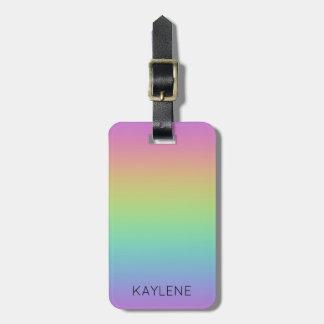 Personalised Rainbow Luggage Tag