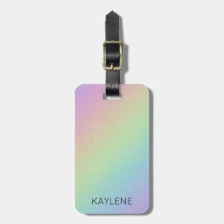 Personalised Rainbow Sparkles Luggage Tag