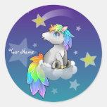 Personalised Rainbow Unicorn Customisable sticker