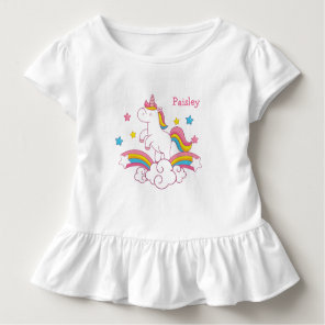 Personalised Rainbow Unicorn shirt with name
