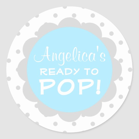 Personalised Ready to Pop Baby Shower Blue Boy