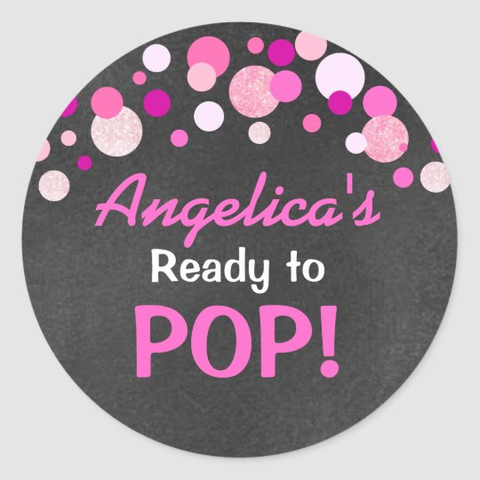 Personalised Ready to Pop Baby Shower Hot Pink