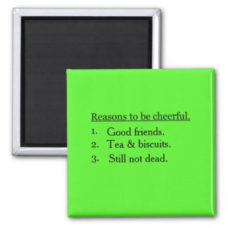 Personalised Reasons To Be Cheerful Magnet