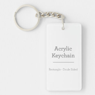 Personalised Rectangular Keychain