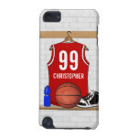 Personalised Red and White Basketball Jersey iPod Touch 5G Case