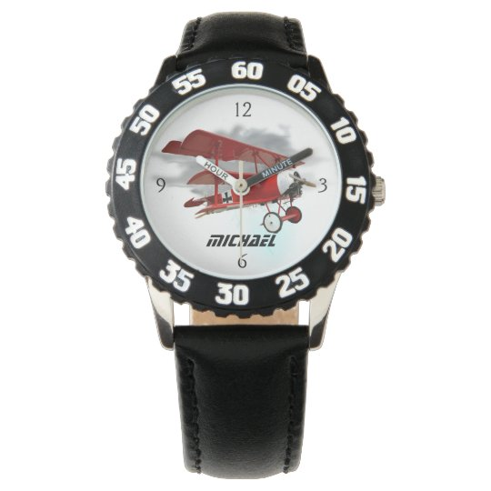 """Personalised """"Red Baron"""" Triplane Watch"""