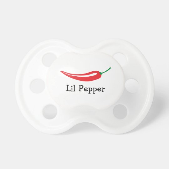 Personalised Red hot chilli pepper baby pacifier