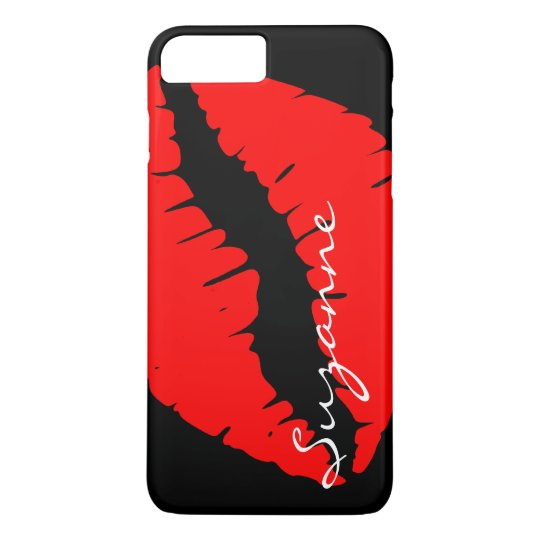 Personalised Red Lips iPhone 7 Plus Case