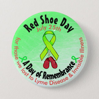 Personalised Red Shoe Day, in Memorial Button