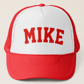 Personalised Red Short Name Trucker Hat