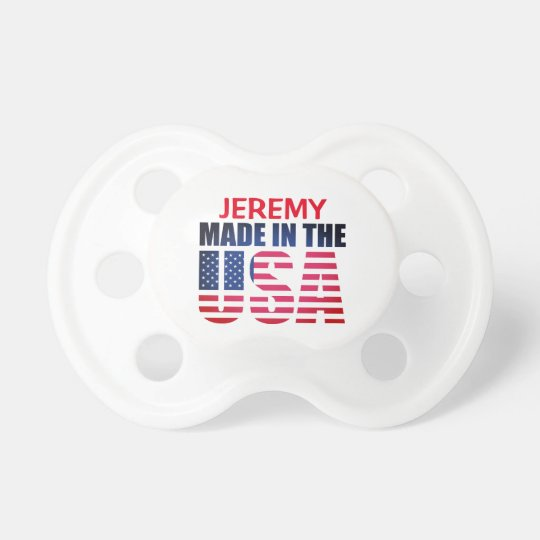 """Personalised Red, White and Blue """"Made in the USA"""" Dummy"""