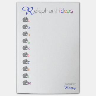 "Personalised ""RElephant"" Creative Ideas Elephant Post-it Notes"