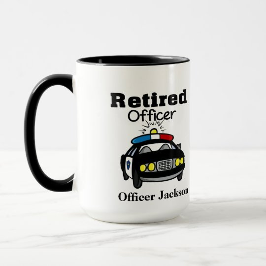 Personalised Retired Police Officer Coffee Mug