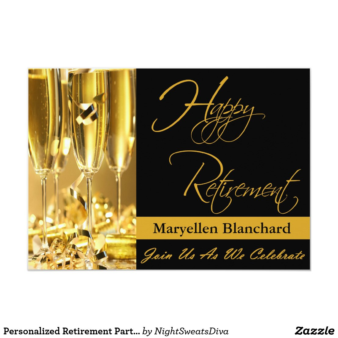 Personalised Retirement Party Invitation