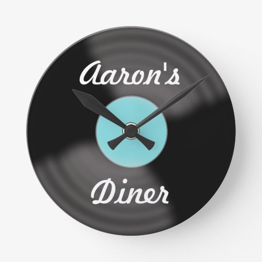 Personalised Retro Vinyl Record Wall Clock Gift