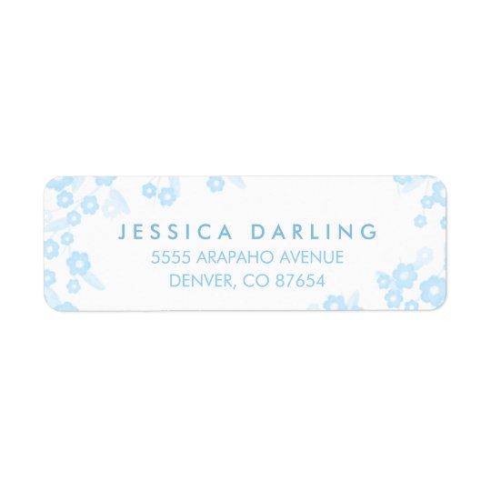 Personalised Return Address Labels   Blue Floral