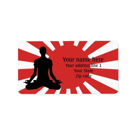 Personalised Rising Sun Yoga 4 meditation Address Label