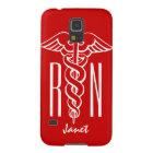Personalised RN Nurse Galaxy S5 cover | caduceus