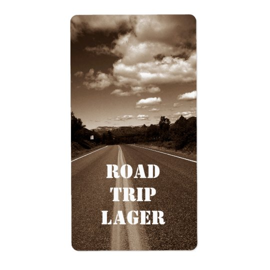 Personalised Road Trip Lager Homebrew Custom Label Shipping