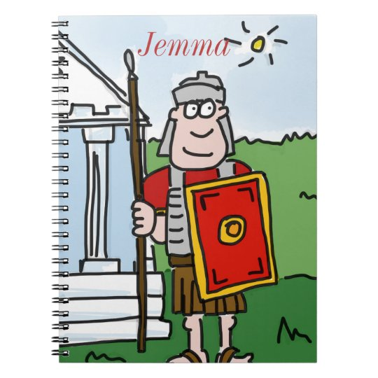 Personalised 'Romans' history notebook