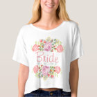 Personalised romantic floral T-Shirt