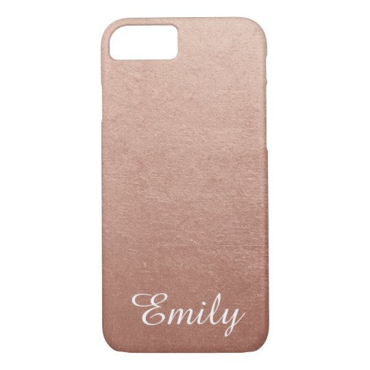 Personalised Rose Gold Foil Photo Effect iPhone 8/7