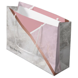 Personalised Rose Gold Large Giftbag Large Gift Bag
