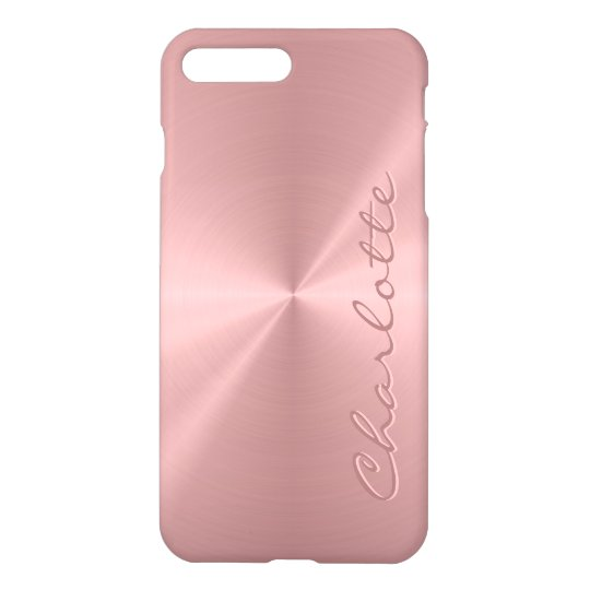 Personalised Rose Gold Stainless Steel Metallic iPhone Case  90d723935