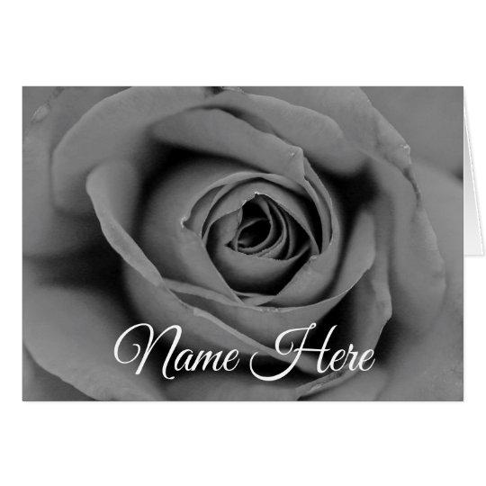 Personalised Rose Greeting Card