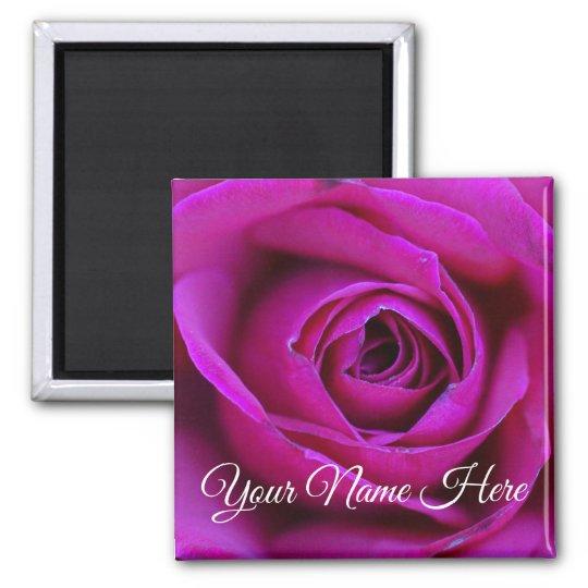 Personalised Rose Magnet