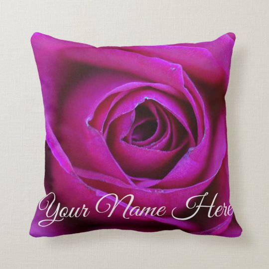 Personalised Rose Throw Pillow
