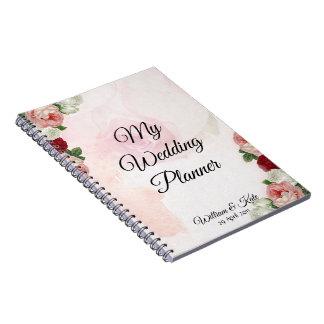 Personalised Roses Wedding Planner Notebook